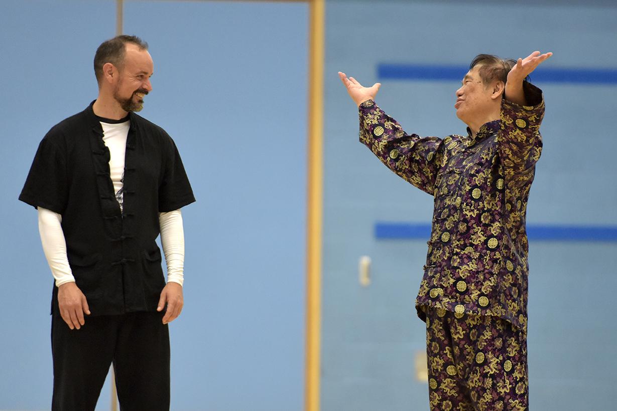 Tim Franklin with Grandmaster Wong Kiew Kit